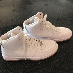 Nike AF1 Patent High Top Sneakers